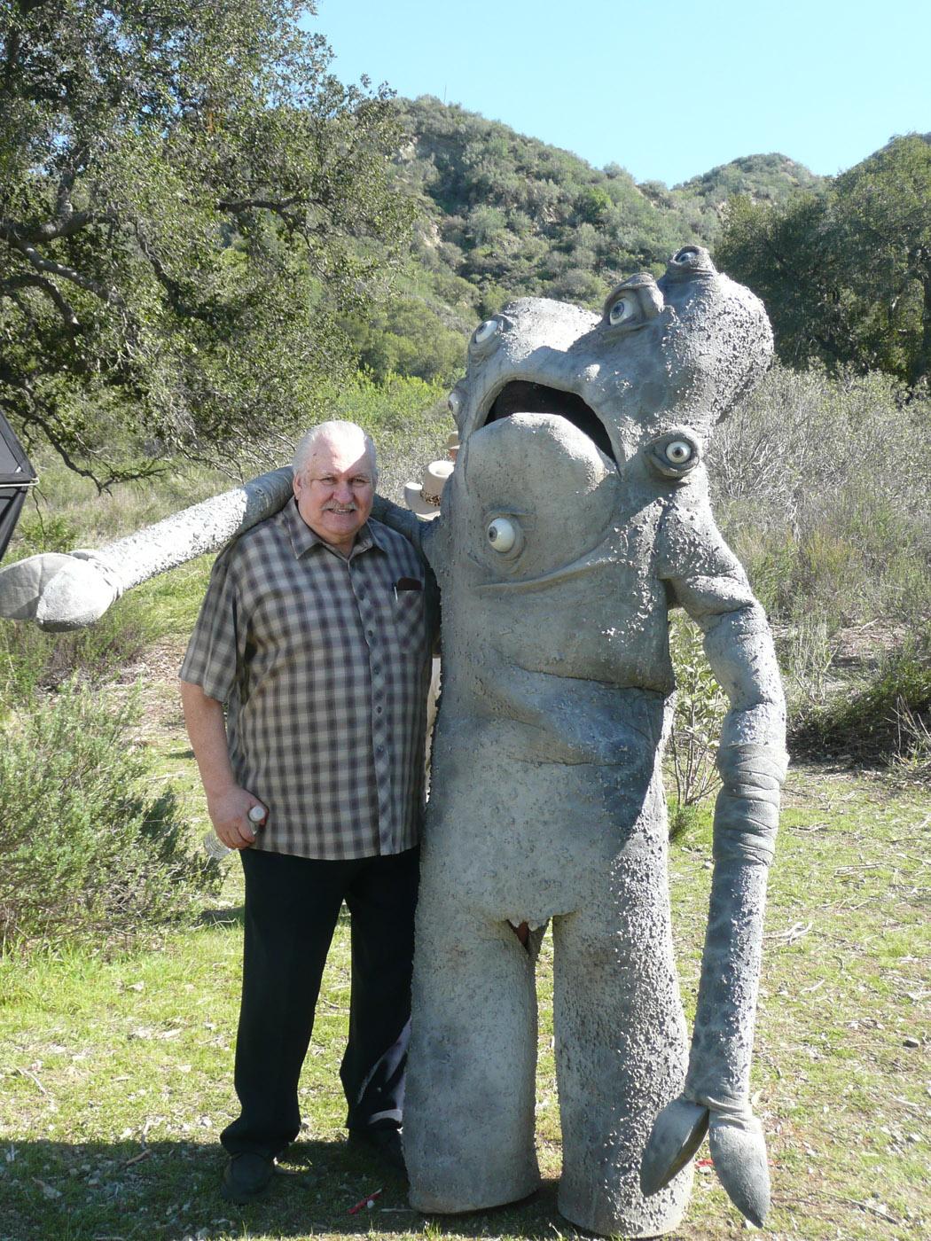 Legendary Bob Burns with gralmanopidon (Frank Ippolito) for Lost Skeleton Returns Again