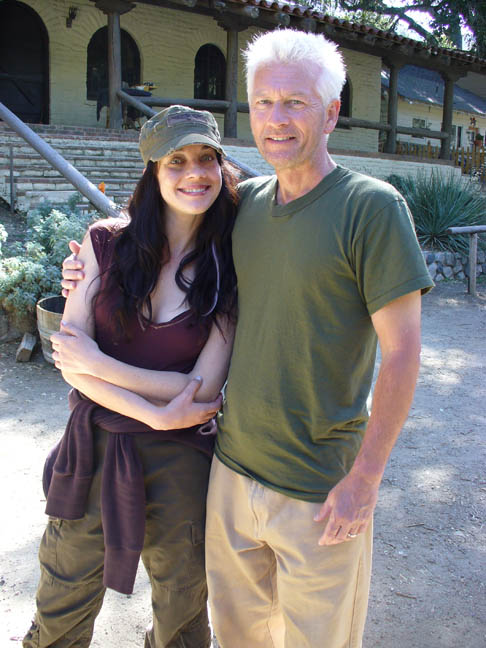 Larry with his wife, actress Jennifer Blaire
